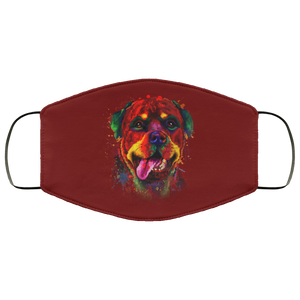 Canine's World Maroon / One Size Ultimate Shield Face Masks Hand painted rottweiler human Face Mask