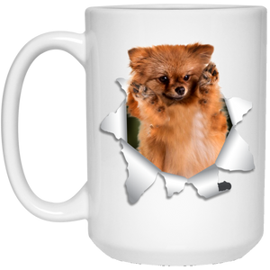 GERMAN SPITZ KLEIN 3D 15 oz. White Mug - Canine's World