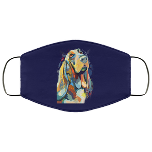 Canine's World Navy / One Size Ultimate Shield Face Masks Hand painted bassethound human Face Mask