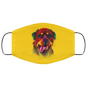 Canine's World Gold / One Size Ultimate Shield Face Masks Hand painted rottweiler human Face Mask