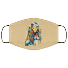 Load image into Gallery viewer, Canine's World Tan / One Size Ultimate Shield Face Masks Hand painted bassethound human Face Mask