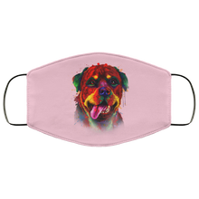 Load image into Gallery viewer, Canine's World Pink / One Size Ultimate Shield Face Masks Hand painted rottweiler human Face Mask