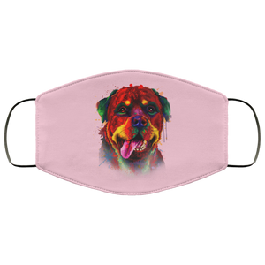 Canine's World Pink / One Size Ultimate Shield Face Masks Hand painted rottweiler human Face Mask