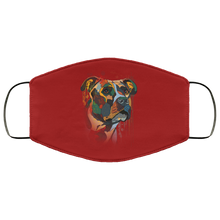 Load image into Gallery viewer, Canine's World Burgundy / One Size Ultimate Shield Face Masks Hand painted pitbull human Face Mask