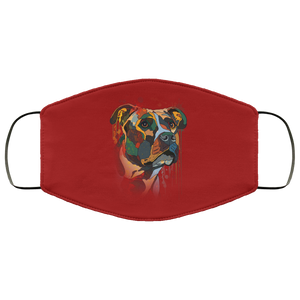 Canine's World Burgundy / One Size Ultimate Shield Face Masks Hand painted pitbull human Face Mask