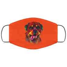 Load image into Gallery viewer, Canine's World Orange / One Size Ultimate Shield Face Masks Hand painted rottweiler human Face Mask