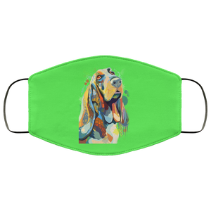 Canine's World Kelly / One Size Ultimate Shield Face Masks Hand painted bassethound human Face Mask