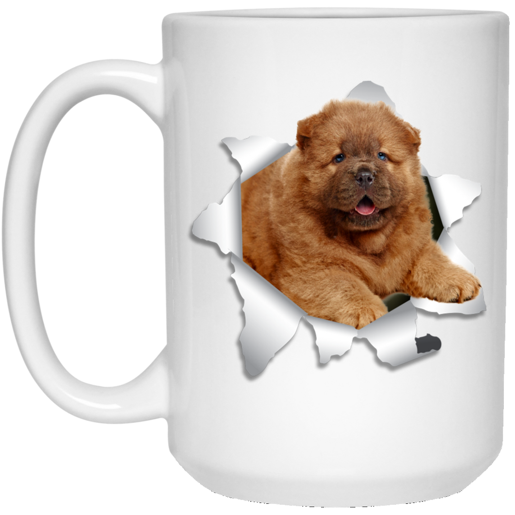 CHOW CHOW 3D 15 oz. White Mug - Canine's World
