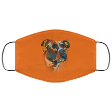 Load image into Gallery viewer, Canine's World Burnt Orange / One Size Ultimate Shield Face Masks Hand painted pitbull human Face Mask