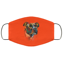 Load image into Gallery viewer, Canine's World Orange / One Size Ultimate Shield Face Masks Hand painted pitbull human Face Mask