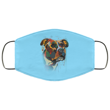 Load image into Gallery viewer, Canine's World Columbia Blue / One Size Ultimate Shield Face Masks Hand painted pitbull human Face Mask