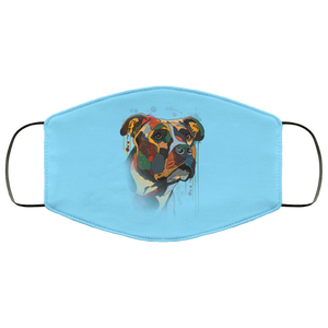 Canine's World Columbia Blue / One Size Ultimate Shield Face Masks Hand painted pitbull human Face Mask