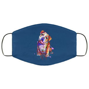 Hand painted Bull Dog human Face Mask - Canine's World