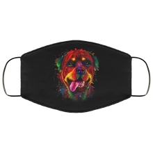 Load image into Gallery viewer, Canine's World Black / One Size Ultimate Shield Face Masks Hand painted rottweiler human Face Mask