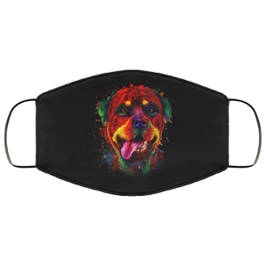 Canine's World Black / One Size Ultimate Shield Face Masks Hand painted rottweiler human Face Mask