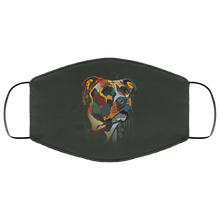 Load image into Gallery viewer, Canine's World Forest / One Size Ultimate Shield Face Masks Hand painted pitbull human Face Mask