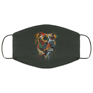 Canine's World Forest / One Size Ultimate Shield Face Masks Hand painted pitbull human Face Mask