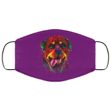 Load image into Gallery viewer, Canine's World Purple / One Size Ultimate Shield Face Masks Hand painted rottweiler human Face Mask