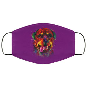 Canine's World Purple / One Size Ultimate Shield Face Masks Hand painted rottweiler human Face Mask