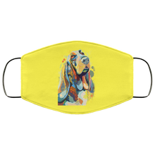 Load image into Gallery viewer, Canine's World Yellow / One Size Ultimate Shield Face Masks Hand painted bassethound human Face Mask