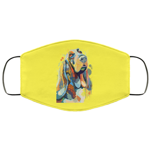 Canine's World Yellow / One Size Ultimate Shield Face Masks Hand painted bassethound human Face Mask