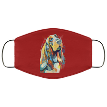 Load image into Gallery viewer, Canine's World Burgundy / One Size Ultimate Shield Face Masks Hand painted bassethound human Face Mask