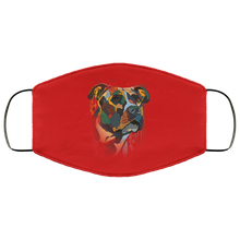 Load image into Gallery viewer, Canine's World Red / One Size Ultimate Shield Face Masks Hand painted pitbull human Face Mask