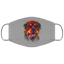 Load image into Gallery viewer, Canine's World Gray / One Size Ultimate Shield Face Masks Hand painted rottweiler human Face Mask
