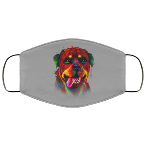 Canine's World Gray / One Size Ultimate Shield Face Masks Hand painted rottweiler human Face Mask