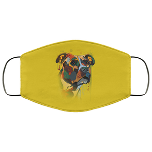 Canine's World Old Gold / One Size Ultimate Shield Face Masks Hand painted pitbull human Face Mask