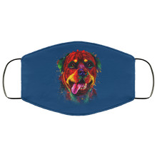 Load image into Gallery viewer, Canine's World Royal / One Size Ultimate Shield Face Masks Hand painted rottweiler human Face Mask