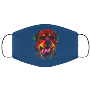Canine's World Royal / One Size Ultimate Shield Face Masks Hand painted rottweiler human Face Mask