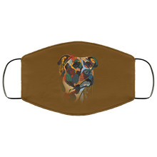 Load image into Gallery viewer, Canine's World Brown / One Size Ultimate Shield Face Masks Hand painted pitbull human Face Mask