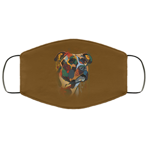 Canine's World Brown / One Size Ultimate Shield Face Masks Hand painted pitbull human Face Mask