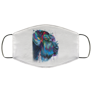 Hand painted Schnauzer human Face Mask - Canine's World