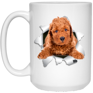 POODLE 3D 15 oz. White Mug - Canine's World