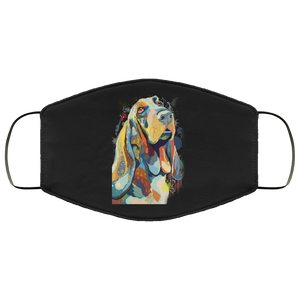 Canine's World Black / One Size Ultimate Shield Face Masks Hand painted bassethound human Face Mask