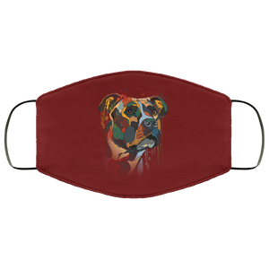Canine's World Maroon / One Size Ultimate Shield Face Masks Hand painted pitbull human Face Mask