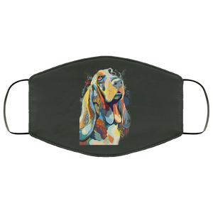 Canine's World Forest / One Size Ultimate Shield Face Masks Hand painted bassethound human Face Mask