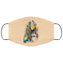 Load image into Gallery viewer, Canine's World Vegas Gold / One Size Ultimate Shield Face Masks Hand painted bassethound human Face Mask