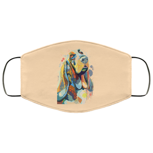 Canine's World Vegas Gold / One Size Ultimate Shield Face Masks Hand painted bassethound human Face Mask