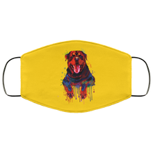 Load image into Gallery viewer, Hand painted rottweiler human Face Mask - Canine's World