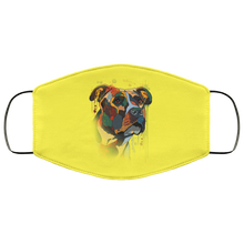 Load image into Gallery viewer, Canine's World Yellow / One Size Ultimate Shield Face Masks Hand painted pitbull human Face Mask