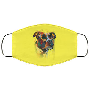 Canine's World Yellow / One Size Ultimate Shield Face Masks Hand painted pitbull human Face Mask
