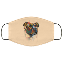 Load image into Gallery viewer, Canine's World Vegas Gold / One Size Ultimate Shield Face Masks Hand painted pitbull human Face Mask