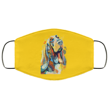 Load image into Gallery viewer, Canine's World Gold / One Size Ultimate Shield Face Masks Hand painted bassethound human Face Mask