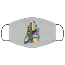 Load image into Gallery viewer, Canine's World Silver / One Size Ultimate Shield Face Masks Hand painted bassethound human Face Mask