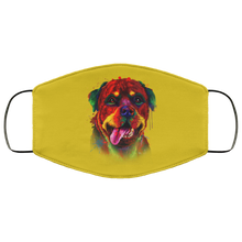 Load image into Gallery viewer, Canine's World Old Gold / One Size Ultimate Shield Face Masks Hand painted rottweiler human Face Mask