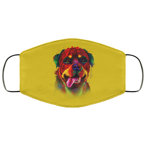 Canine's World Old Gold / One Size Ultimate Shield Face Masks Hand painted rottweiler human Face Mask