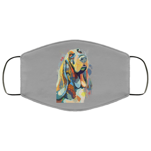 Canine's World Gray / One Size Ultimate Shield Face Masks Hand painted bassethound human Face Mask